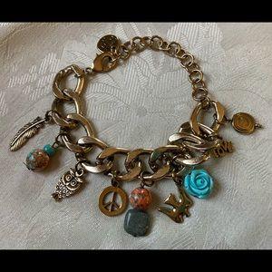 Hannah Grace Signed Charm Bracelet